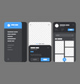 mobile app concept flowchart with ui elements vector image