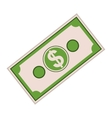 money bill icon vector image vector image