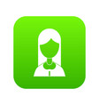 mother icon digital green vector image