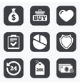 Online shopping e-commerce and business icons vector image