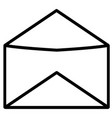 opened email mail icon vector image