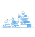 people book pile students climbing books business vector image