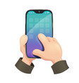 phone in hand modern vector image vector image
