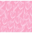pink tulips pattern vector image