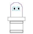 pixel ghost game play character arcade vector image vector image