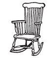 rocking chair vintage vector image vector image