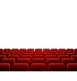 Row of Seats in Theatre vector image