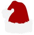 Santa hat vector image