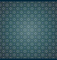 seamless geometric pattern on blue background vector image vector image
