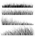 set grass silhouettes backgrounds vector image