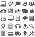 Set gray simple icons for web design vector image vector image