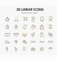 set icons on a white background on theme vector image