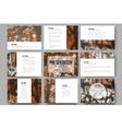 Set of 9 templates for presentation slides vector image vector image