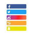 social network strip backgrounds vector image