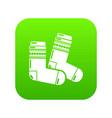 socks icon simple black style vector image vector image