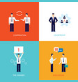 successful business winner teamwork cooperation vector image