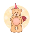 Teddy Bear flowers vector image vector image