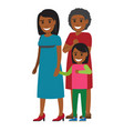 tree generations of women standing together vector image vector image