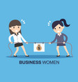 two business women in career race vector image vector image
