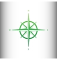 Wind rose sign vector image vector image