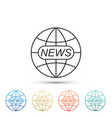 world and global news concept icon news sign vector image