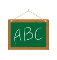 chalkboard with ABC vector image