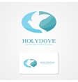logo design dove of peace vector image
