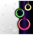 glowing balls vector image