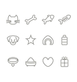 Pets line icons set vector image