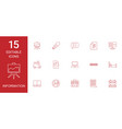 15 information icons vector image vector image