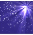 A blue color design with a burst and rays vector image vector image