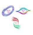 abstract emblem blank design template frame border vector image vector image
