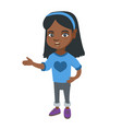 african little girl gesturing with her hands vector image