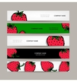 Banners template strawberry design vector image vector image