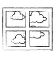 bedroom windows day isolated icon vector image vector image