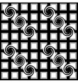 Black and white checkered pattern with swirls vector image