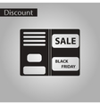 black and white style icon sale booklet vector image vector image