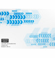 blue arrow pattern white background template vector image vector image