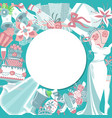 bride accessories round pattern vector image vector image