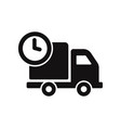 cargo truck and clock icon vector image vector image