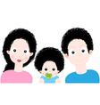 Cartoon Sweet Family vector image