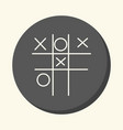 children s game tic-tac-toe round icon vector image