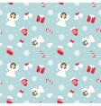 Christmas Seamless Pattern with Angel vector image vector image