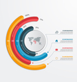 circle infographic template with 4 processes vector image vector image