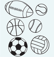 Collection sports balls vector image
