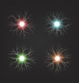colorful electric fireballs isolated vector image