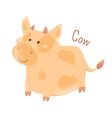 Cow isolated Domestic pets Sticker for kids vector image vector image