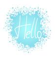 creative hello message vector image