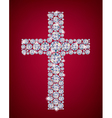 Cross of Diamonds vector image vector image