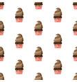 cupcake kissing closed eyes kawaii icon vector image vector image